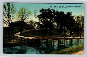Brantford Ont. Canada - Old Indian Bridge, Exposition 1913 Vintage Postcard