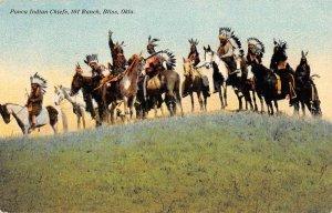 Bliss Oklahoma Ponca Indian Chief 101 Ranch Antique Postcard KK1770