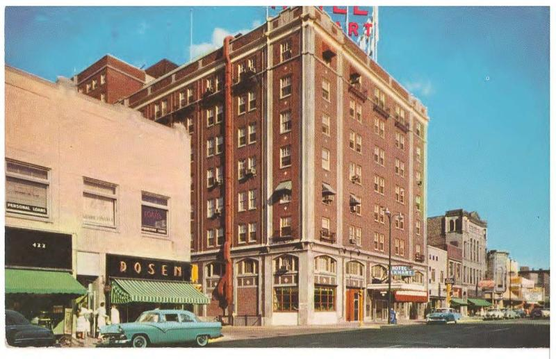 Elkhart Indiana South Main Street Hotel In 1955 Vintage Postcard