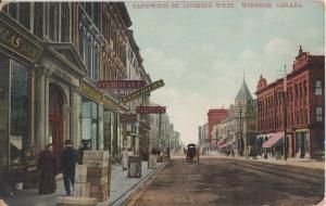WINDSOR Ontario CANADA - SANDWICH ST 1910s - horse & buggy