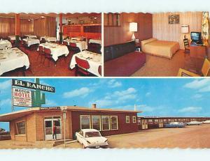 Unused Pre-1980 OLD CARS & EL RANCHO MOTEL IN WEYBURN SK CANADA s6690