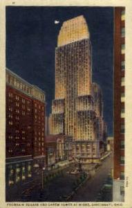 Carew Tower and Fountain Square Cincinnati OH Unused