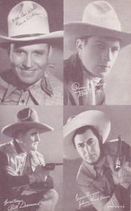 Cowboy : Gene Autry, Tom Tyler, Bill Desmond, Johnny Mack Brown, 30s-40s