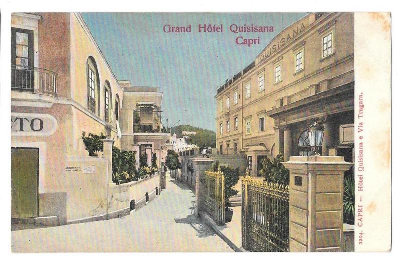 Italy Capri Grand Hotel Quisisana Via Tragara Postcard Hippostcard
