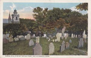 PLYMOUTH, Massachusetts, 1900-1910's; Burial Hill, Site Of The Old Fort