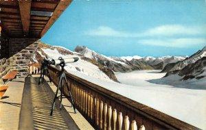 Lot 62 switzerland jungfraujoch berghaus  aletschgletscher hotel  telescope