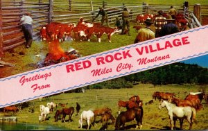 Montana Greetings From Red Rock Village Miles City