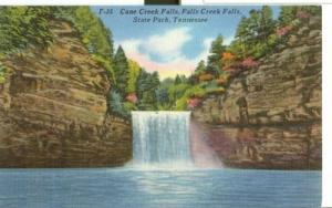 Cane Creek Falls, State Park, Tennessee, unused linen Pos...