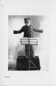 Child dressed as band conductor Child, People Photo 1907