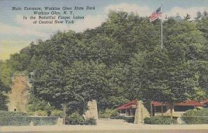 New York Walkins Glen Main Entrance Walkins Glen State Park