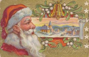 CHRISTMAS: Blessings, Santa Claus, Mistletoe, Winter Town Scene, 00-10s