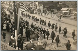 CIVIL WAR VETERANS PARADE G.A.R. LORAIN OH ANTIQUE REAL PHOTO POSTCARD RPPC