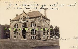 1905 Indianola Iowa Real Photo Postcard: Science Hall, Simpson College