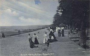 Board Walk, Sylvan Beach, New York, Early Postcard, Unused