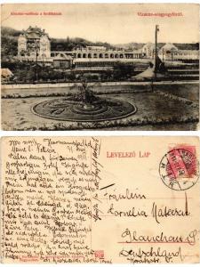 CPA AK VIZAKNA-SÓSGYÓGYFÜRDÖ Kincstári szálloda a fürd?házzal ROMANIA (500698)