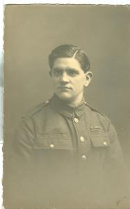 UK, Soldier in Uniform, World War One, unused real photo