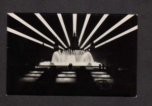 Spain Barcelona Palacio de Montjuich Fuente  Magica Fountain Real Photo Postcard