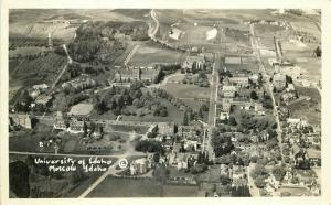 Birdseye Moscow Idaho University of Idaho 1940s Postcard 4791