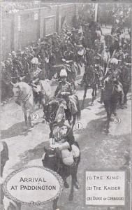 Arrival at Paddington Station , London , England, 00-10s : The King , The Kaiser