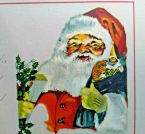 Vintage Christmas Postcard Santa Claus Jolly Old Saint Nick Original Antique