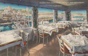 SAN FRANCISCO , California , 30-40s ; Vista Del Mar Restaurant , Marine View ...