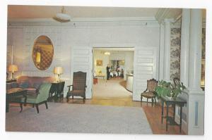 VT Brandon Inn Lobby and Lounge Hotel Interior Vermont Vintage Postcard