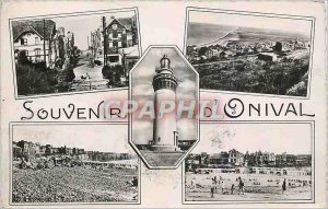 Old Postcard Onival Memorial Lighthouse