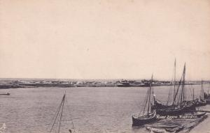Euphrates River Scene Iraq Boats Antique Postcard