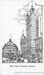 New York Printing Square Postcard