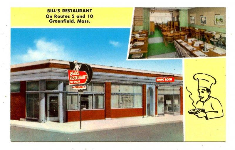 MA - Greenfield. Bill's Restaurant