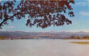 Crown Point New York~Lake Champlain Bridge to Chimney Point~1950 Postcard