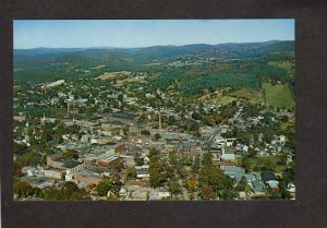 VT Aerial View City of Claremont New Hampshire Postcard Mills Bldgs