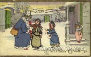 Series 402 E Santa Claus Postcards Post Card  Series 402 E