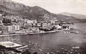 Monaco Monte Carlo Port Scene Real Photo