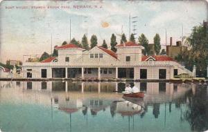 New Jersey Newark Boat House Branch Brook Park 1907
