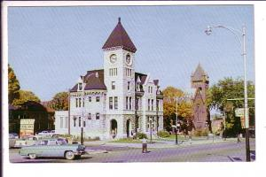 Post Office, King Street, Midland, Ontario, Loblaws Parking 50's Cars, Clock ...