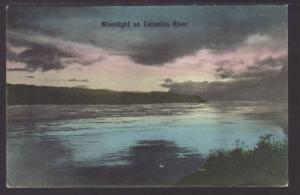 Moonlight on Columbia River,OR Postcard