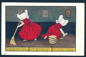 Sunbonnet Twins Friday we clean unused c1910's