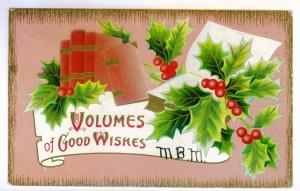 White Lake Corners to Utica, New York 1912 embossed Christmas Postcard