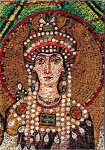 Ravenna Church of S. Vitale Empress Theodora Art Repro Unused Postcard D50