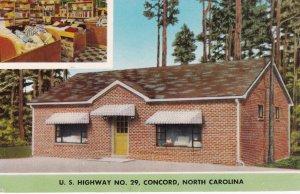 CONCORD, North Carolina, 1940-60s; 2-Views, Towel Shop, U. S. Highway No. 29