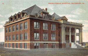 Waterloo Iowa~Presbyterian Church~Greek Ionic Columns @ Doorway~1908 Postcard