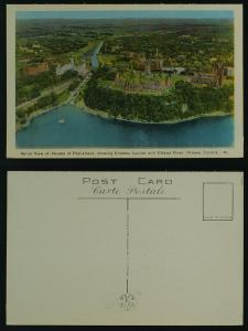 1221 Houses of Parliament (aerial view), Chateau Laurier,
