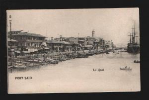 075900 EGYPT LIGHTHOUSE in Port Said - Le Quai Vintage PC