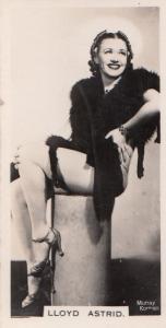 Lloyd Astrid Hollywood Actress Rare Real Photo Cigarette Card