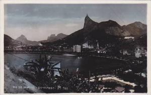 RP; Hand-colored, Bird's Eye View, Rio de Janiero, Brazil, 10-20s