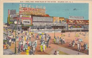 Crowded Steel Pier, Ford Exhibit, Circus, Miniature Railway, Diving Horses, A...