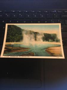 Vintage Postcard; Rainbow Pool, Yellowstone Park
