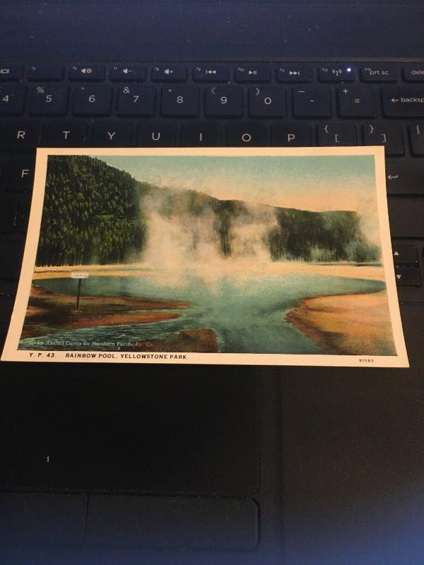 Vintage Postcard; Rainbow Pool, Yellowstone Park