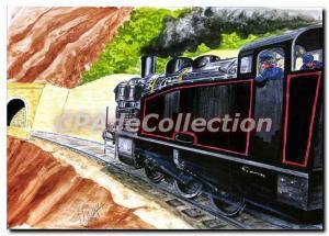 Modern Postcard St Jean Du Gard Anduze Cevennes steam train from the station TVC